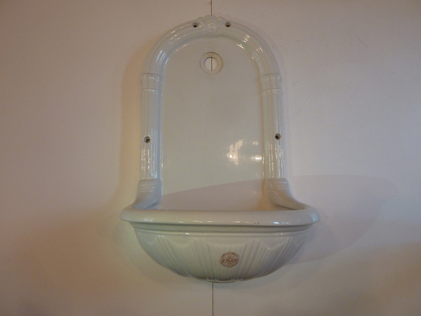 "Wall-Fixing ""Fountain"" Basin by Porcher, Paris C.1890"