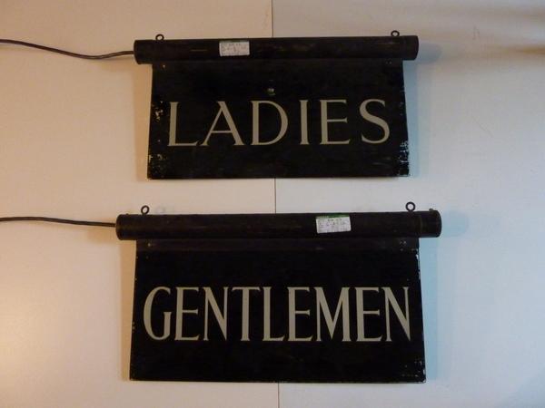 Electric Bathroom Signs C.1930