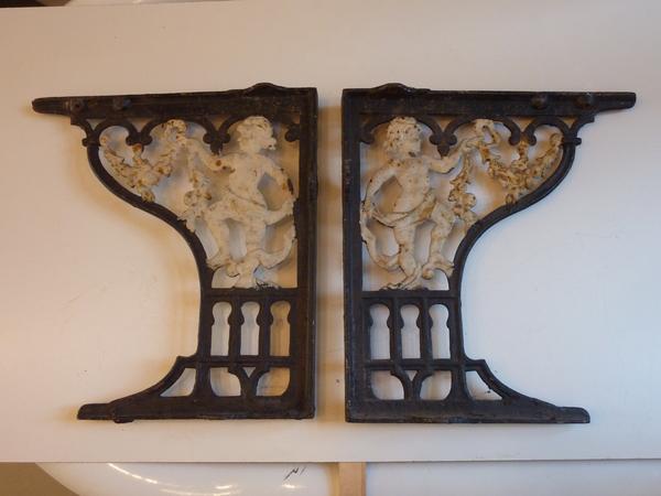 """""""Cherub"""" Victorian Throne Seat Brackets for WCs"""