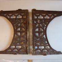 Pair of Victorian Throne Seat Cast Iron Brackets C.1890