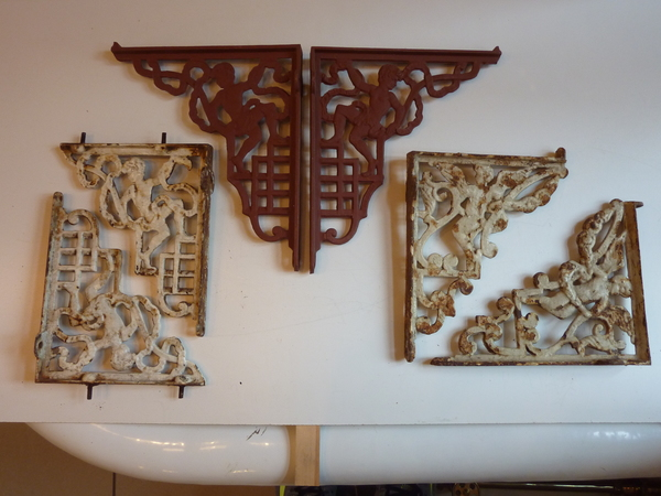 "Selection of Antique Cast Iron ""Cherub"" Cistern Brackets"