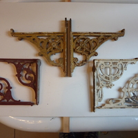 Collection of Victorian Cast Iron Cistern Brackets
