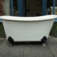 French Cast Iron Chariot Bath on Feet C.1890