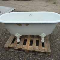 French Cast Iron Double Ended Roll Top Bath C.1880