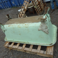 Large French Cast Iron Rectangular Roll Top Bath C.1880