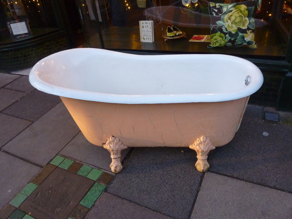 "Rare French Cast Iron ""Slipper"" Bath C.1900"