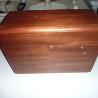 Low-Level Mahogany Cistern by Shanks C.1920