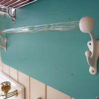 Art Nouveau Glass and Enamel Towel Rail C.1900