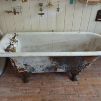 Rare Parallel-Sided Plunger Waste Roll Top Bath by Shanks & Co C.1880