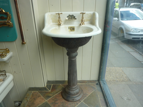Small Cast Iron Basin & Pedestal by J.L Mott, New York C.1880
