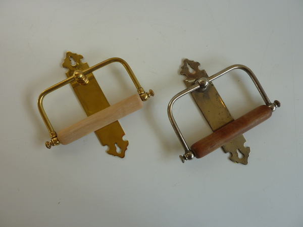Original Antique French Roll Holders C.1900
