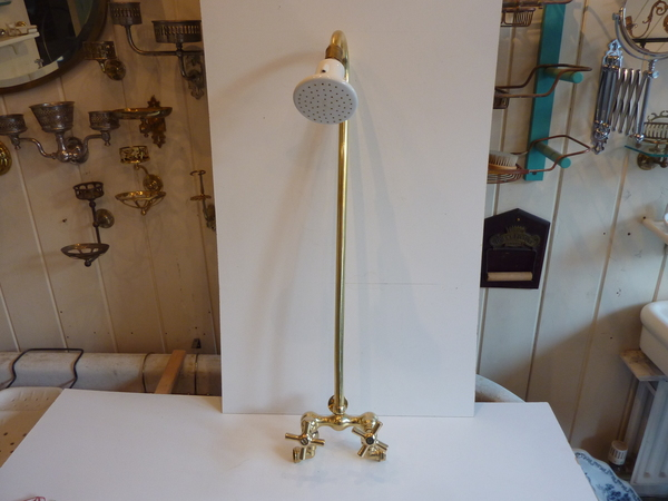 Brass Wall-Fixing Shower Mixer from New York C.1920