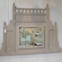Victorian Cast Iron Mirror