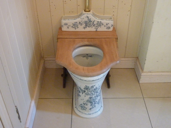 """DELUGE"" WC and High-Level Cistern by Twyford C.1890"