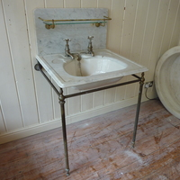 """TRONE"" Carrara Marble Topped Basin by J.Bolding C.1920"