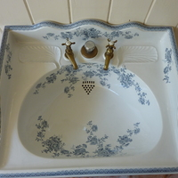 Victorian Blue Transfer Basin by Thomas Twyford of Hanley C.1890