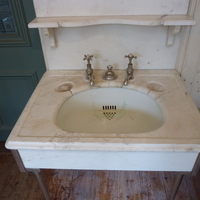 Mirrored Carara Marble Basin by J. Bolding C.1910