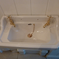 """The Emerald"" Wide Cloakroom Basin C.1930"