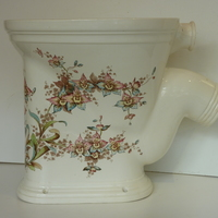 """The Freshet"" Polychromatic P-Trap Outlet Victorian WC C.1890"
