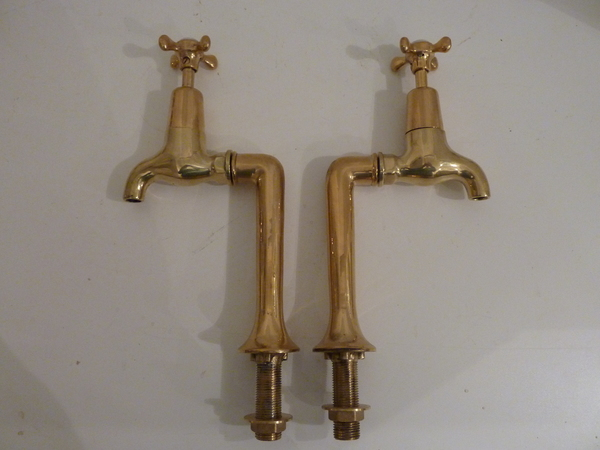 J Bolding Bib Taps on Antique Standpipes C.1920