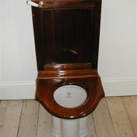 "Mahogany Cistern and ""New Pillar"" WC both by J.Bolding, London C.1910"