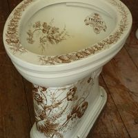 """The Freshet"" Victorian WC with Brown Transfers C. 1890"
