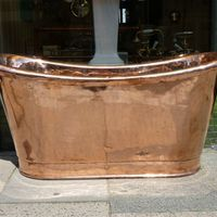 French Copper Bateau Bath C.1830