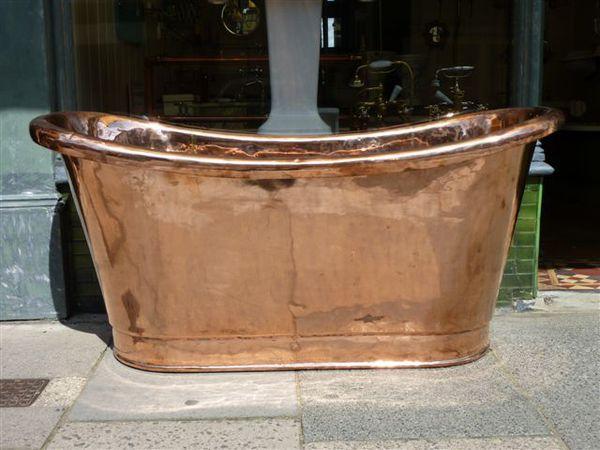 French Copper Bateau Bath C.1830