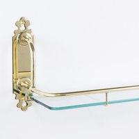 Bathroom Shelf with Gallery Rail