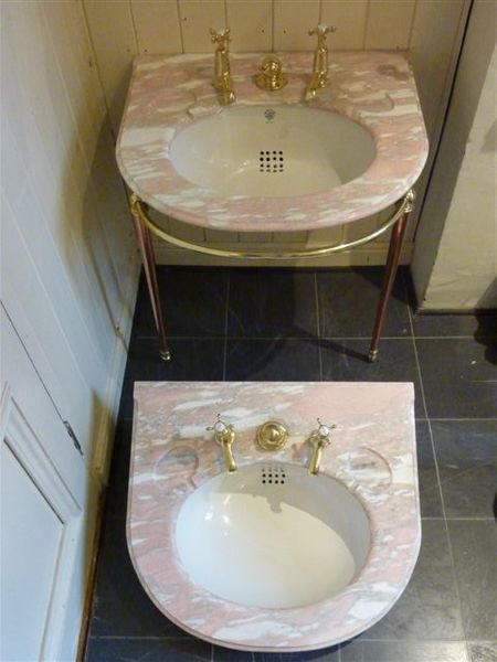 A pair of Rose Marble Basins by J Bolding, London C.1920