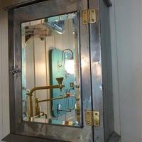 1920s Polished Metal Bathroom Cabinet
