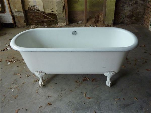 Early French Double-Ended Bath with Shell & Claw feet C.1880