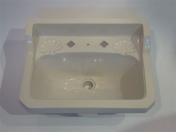 Deco Claokroom Basin with Victorian scallop soap dishes C.1910