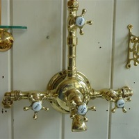 5-Spoked Tap Handle French Bath/Shower Mixer C.1910