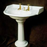 Large French Basin and Pedestal by Porcher, Paris c.1890