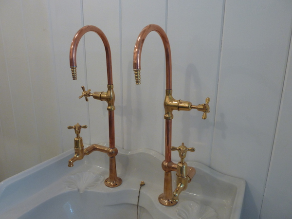 Brass and Copper Lab Taps C.1920