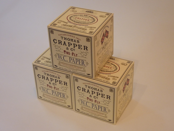 Boxed Thomas Crapper Toilet Paper