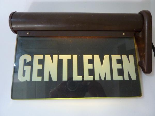 Ladies Amp Gentlemen Illuminated Bathroom Signs C 1920