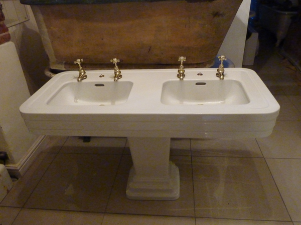 Art Deco Double Basin by Jacob Delafon C.1930
