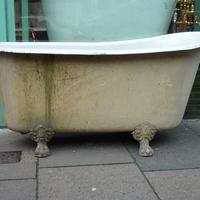 Original Antique French Slipper Bath C.1890