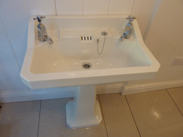 deco basin pedestal c 1930 deco basin pedestal c 1930 choice of taps ...