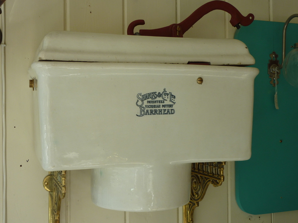 Victorian Fireclay High-Level Cistern by Shanks