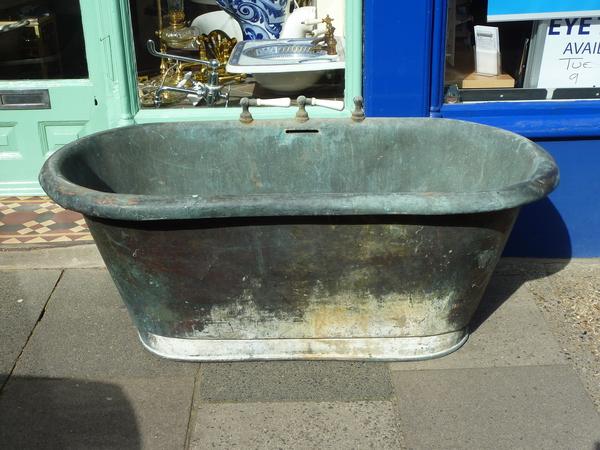 Early French Copper Bath C.1850