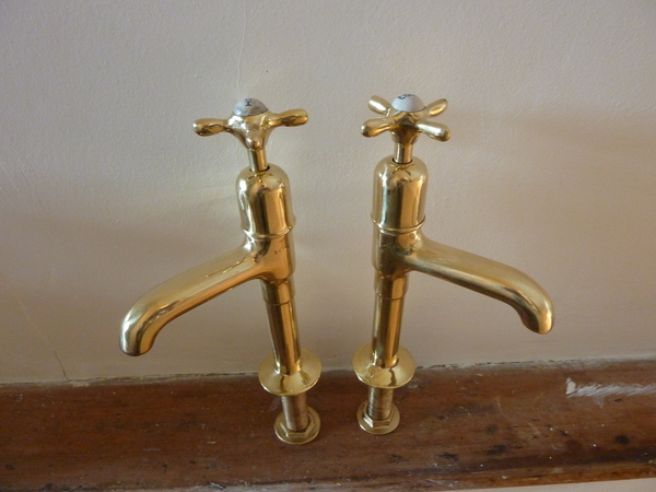 Tall Kitchen Sink Pillar Taps C.1930