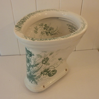 """INVICTAS"" Green Transfer Victorian WC C.1890"