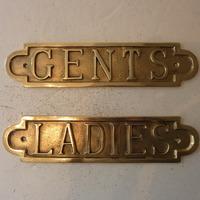 Cast Brass Ladies & Gents