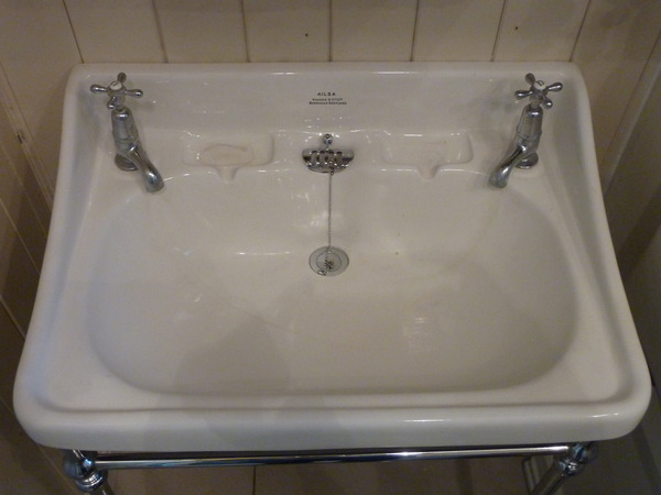 "Large ""AILSA"" Basin by Shanks C.1920"