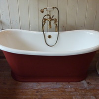 Reproduction Bateau Bath with Plinth