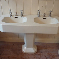 Small Art Deco French Double Basin C.1930