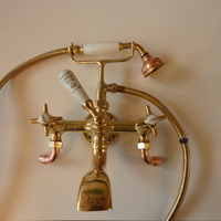 Large French Bath/Shower Mixer Wall-Fixing C.1920